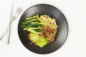 Alberta pulled beef chimichurri cous-cous